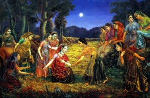Radharani and Gopis