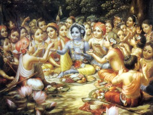 Krishna_Sharing_Food_with_His_Associates